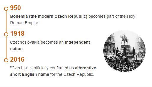 History Timeline of Czech Republic