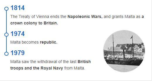 History Timeline of Malta