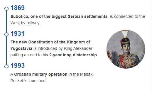 History Timeline of Serbia