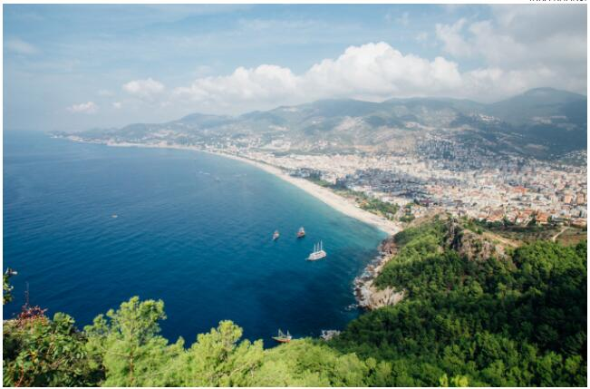 The sea view from Alanya Fortress
